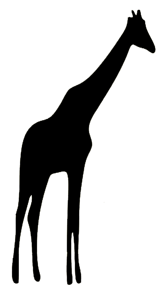 Animal silhouette of giraffe