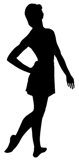 silhouette of ballet girl