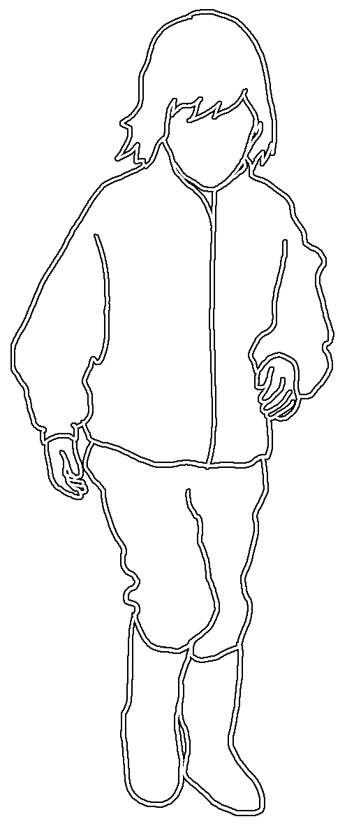 silhouette of girl running white stroke