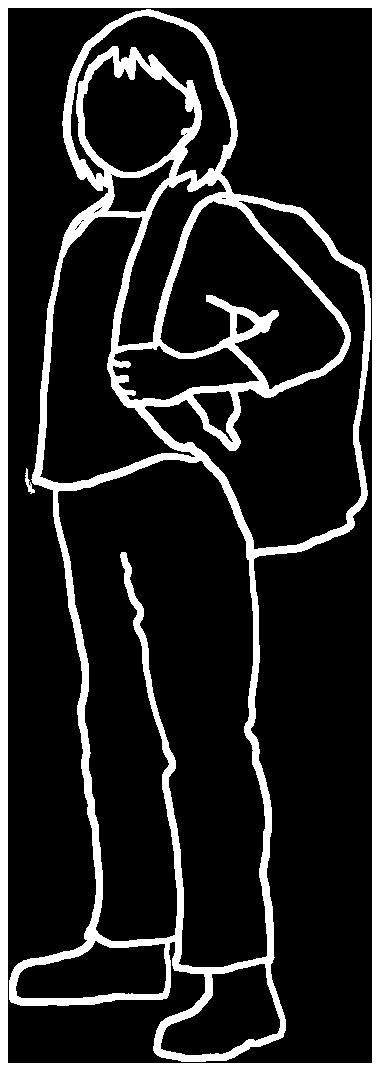 black white silhouette school girl