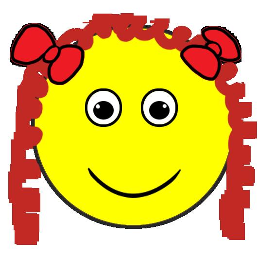 girl smiley face
