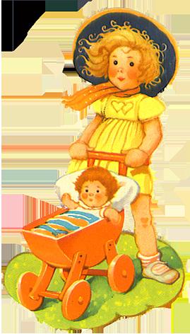 girl with pram