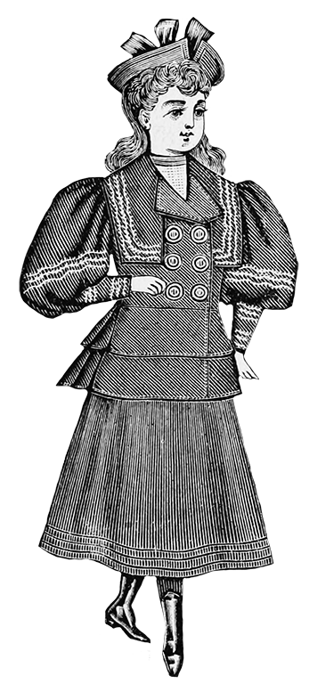 girls fashion Victorian clothes 1894