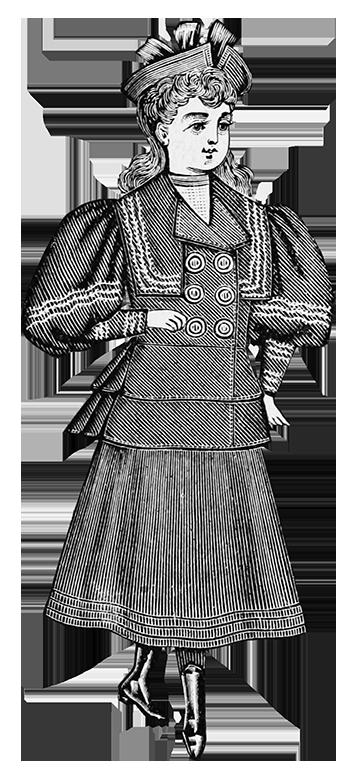 girls fashion Victorian clothes 1894