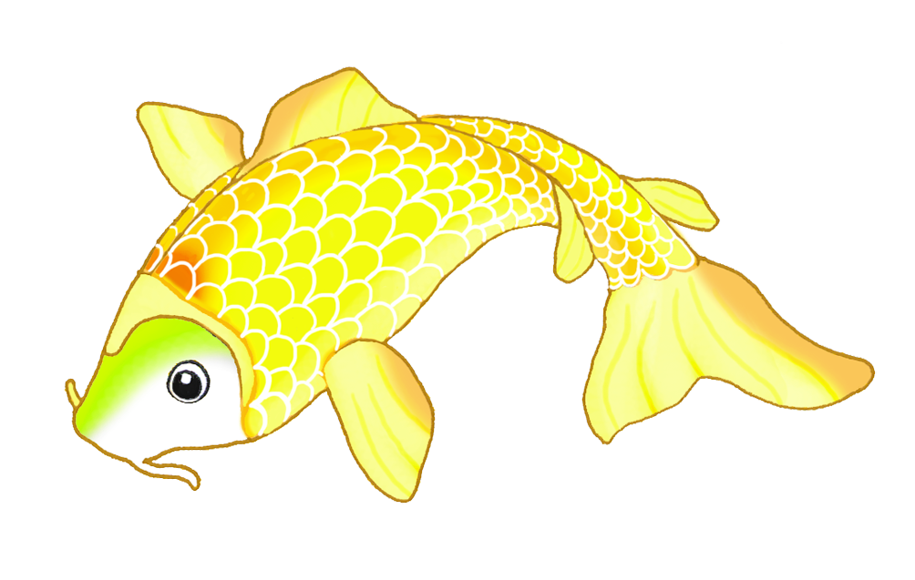 golden koi fish sketch
