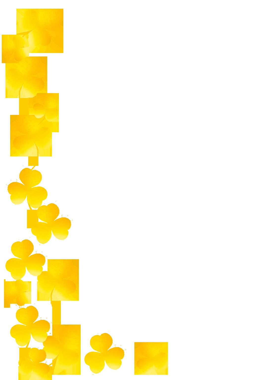 frame with golden shamrocks