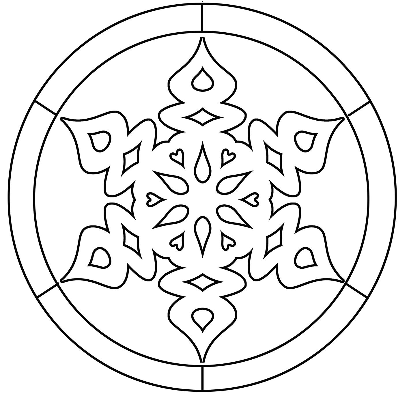 snowflake coloring mandala