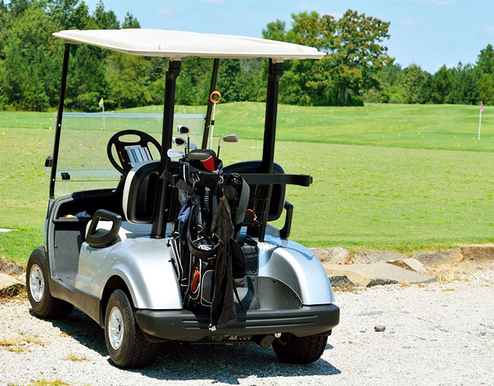 golf cart ready for summer
