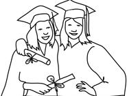 graduation day clipart friends sketch