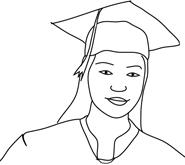 graduation clipart girl graduation hat