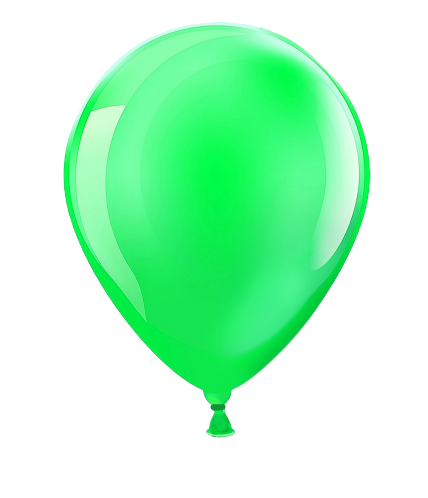 greeen balloon clipart