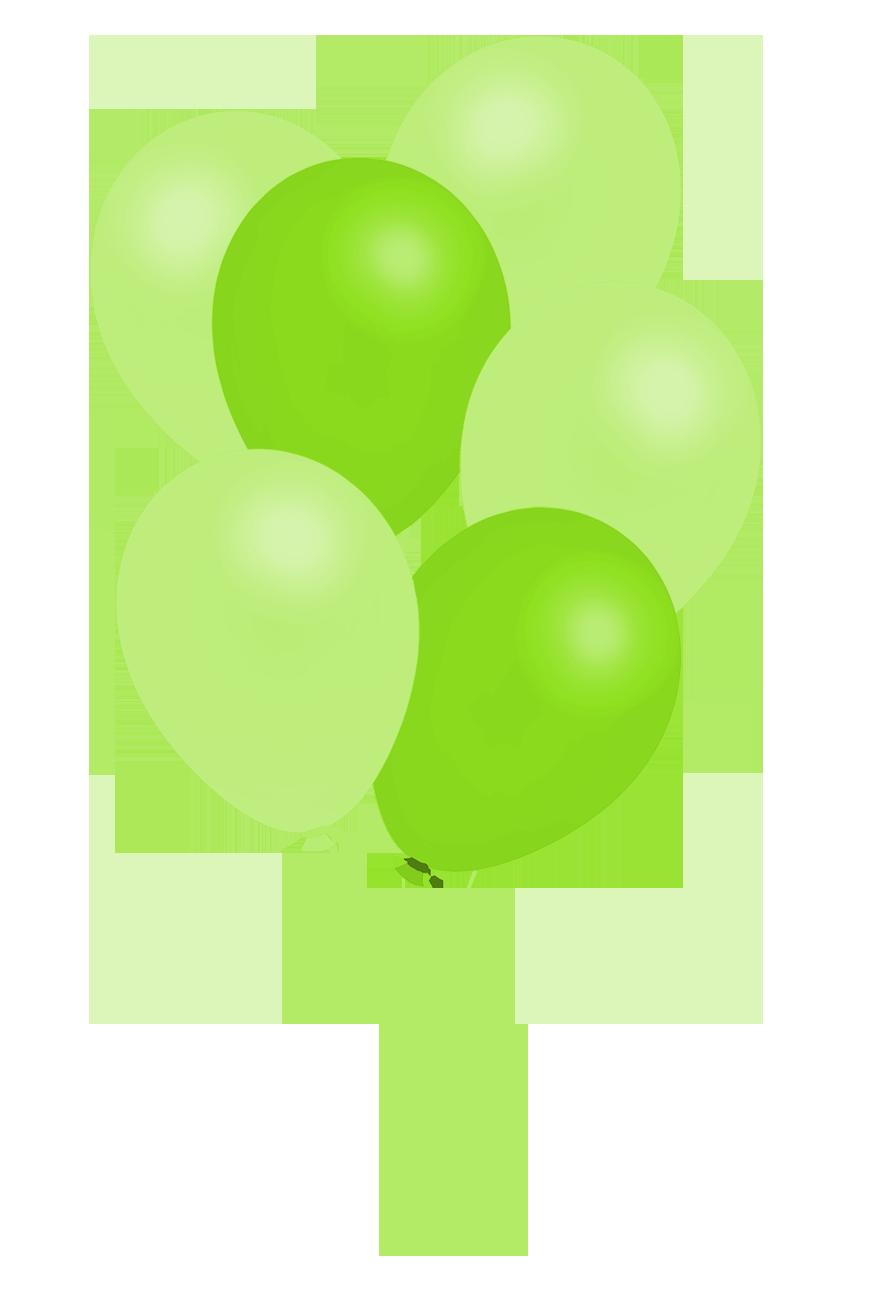 bunch of green balloons