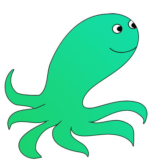 green cartoon octopus