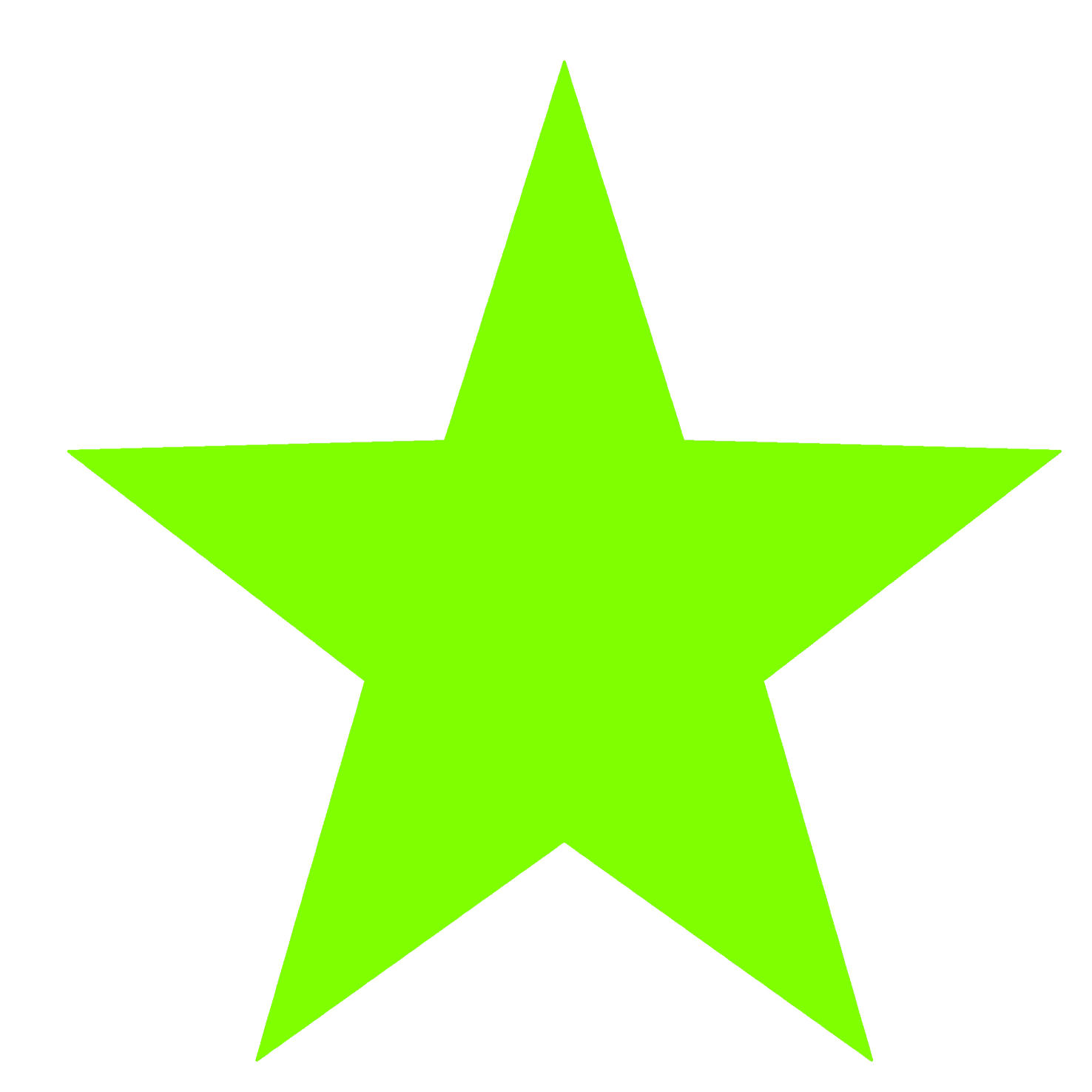 green common star graphic