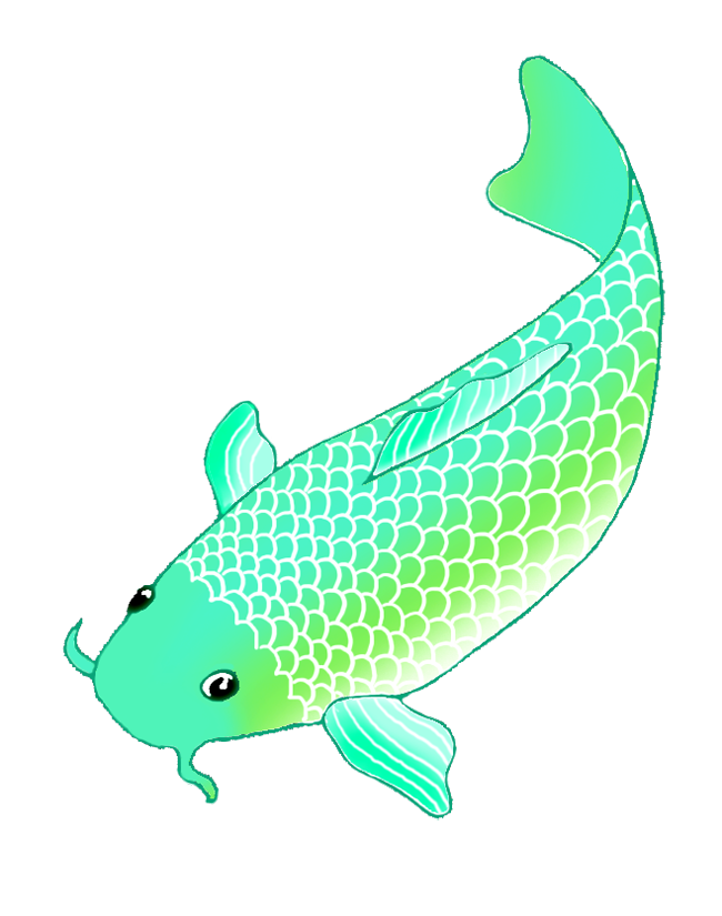 koi fish green