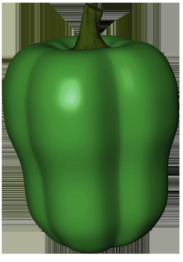 Green pepper clipart