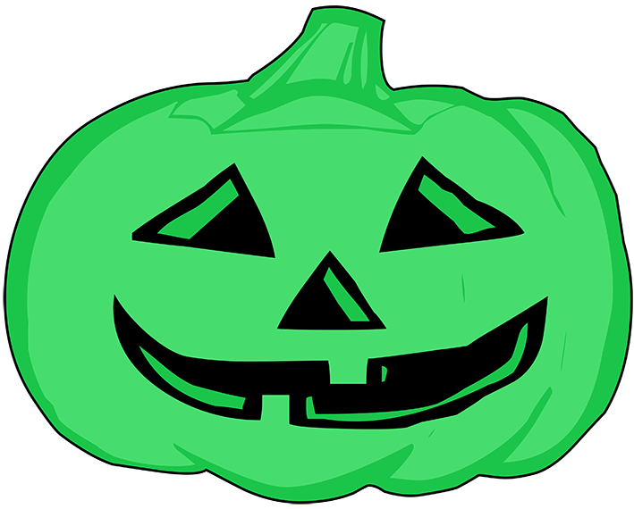 green pumpkin head