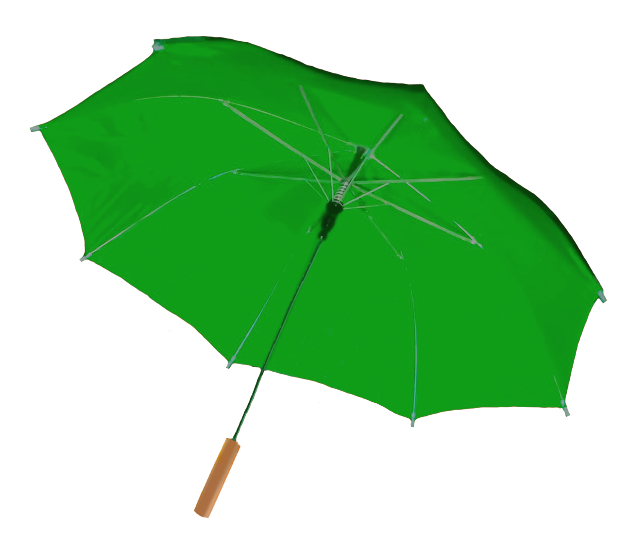 green umbrella clipart