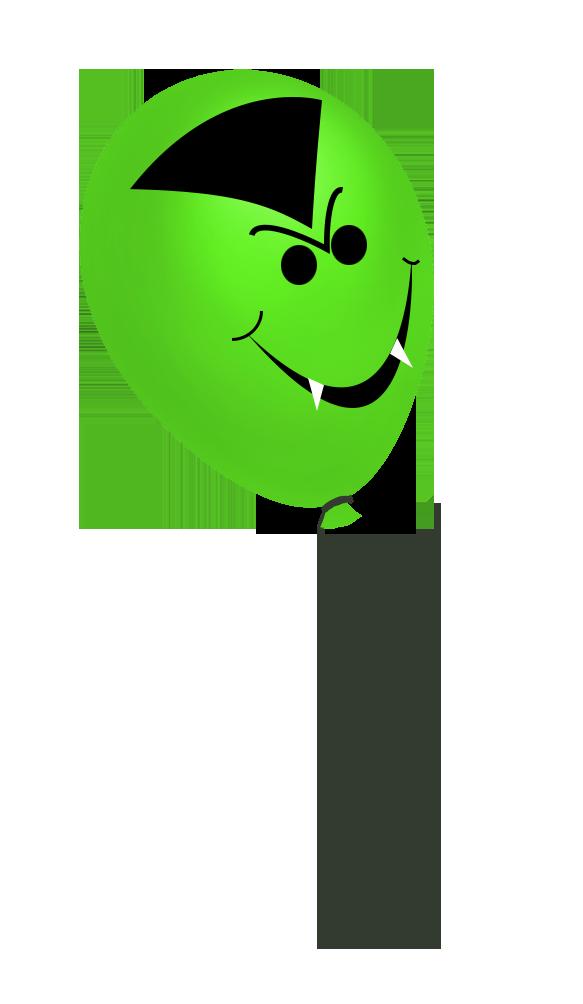 green vampire balloon for Halloween