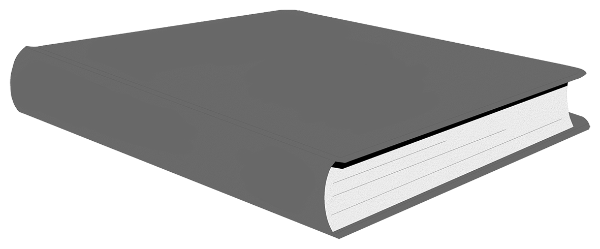 Grey book clipart transparent background