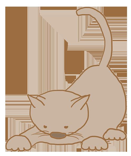 clipart grey kitten