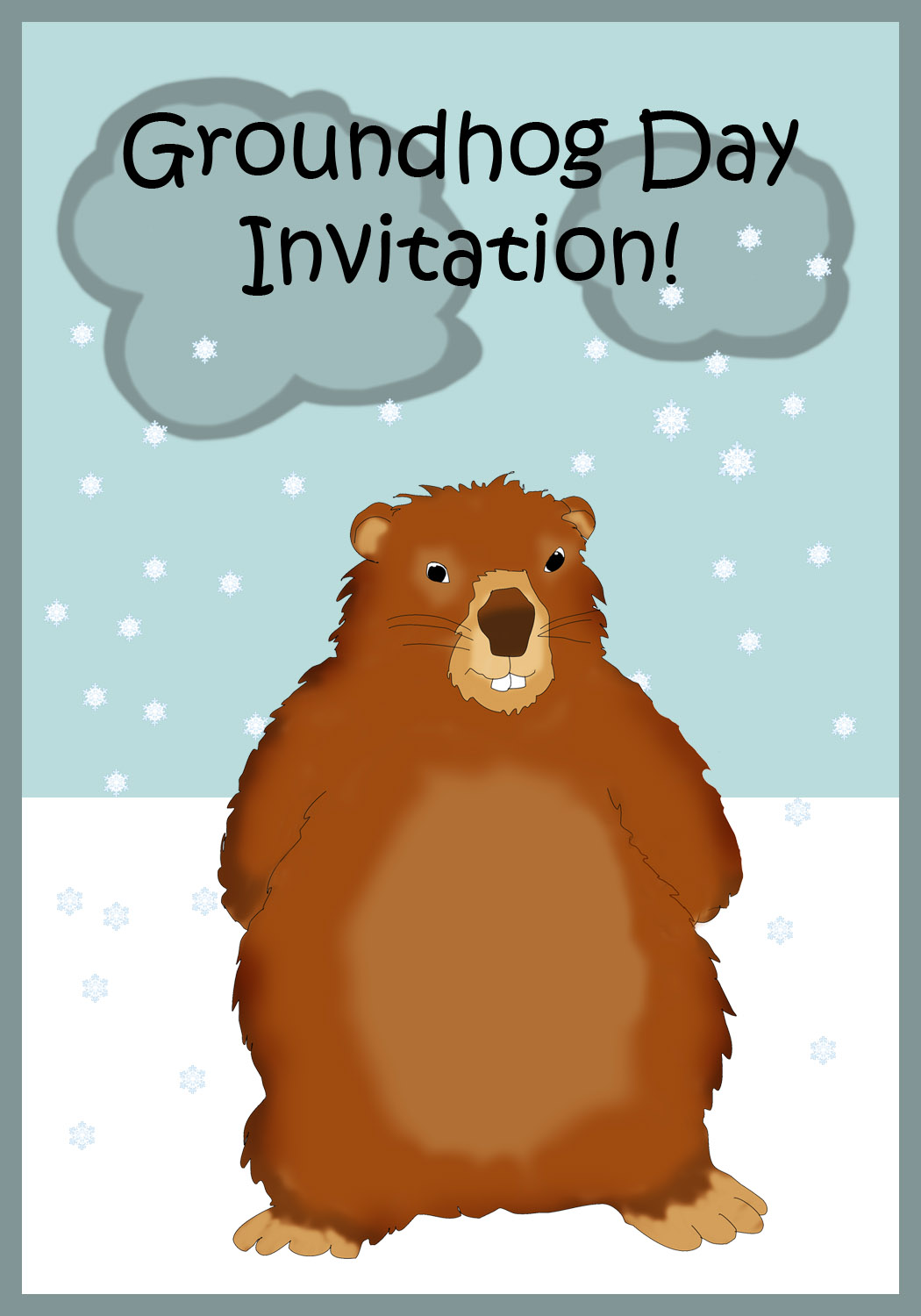 Groundhog Day Invitation