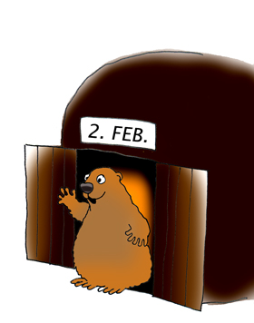 Waving groundhog clipart