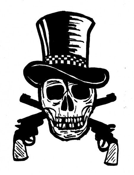 skull of gunfighter