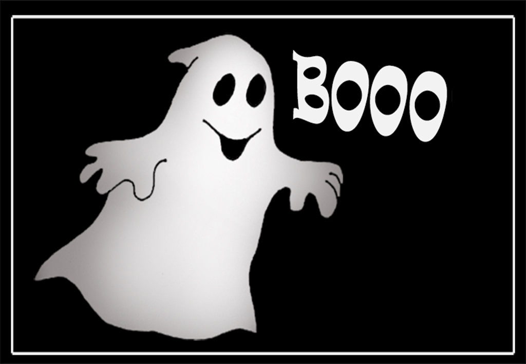 Cute boohing ghost for halloween
