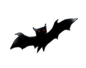 Black bat red eyes