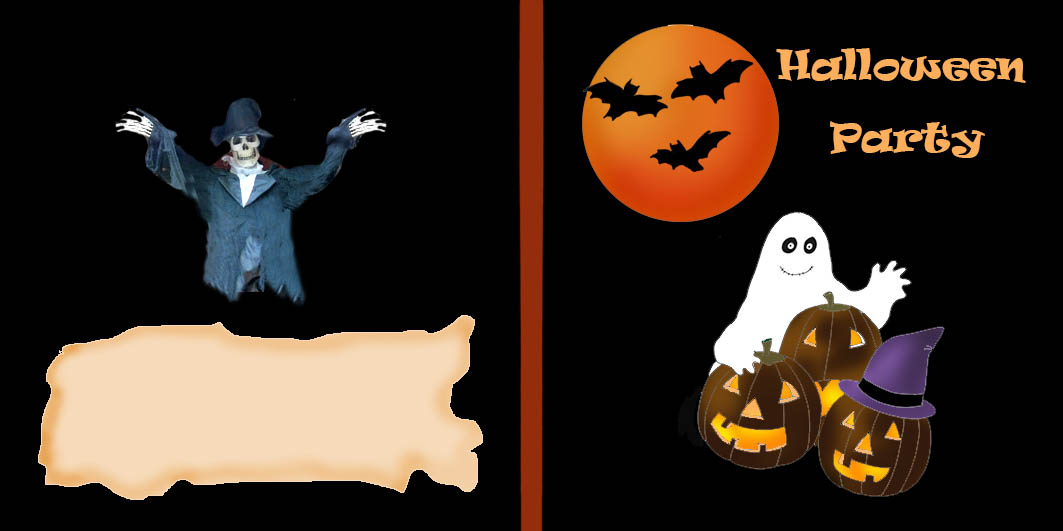 halloween party invitation clipart