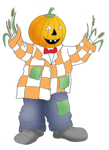 Halloween pumpkin man