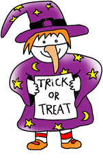 Halloween clip art little witch