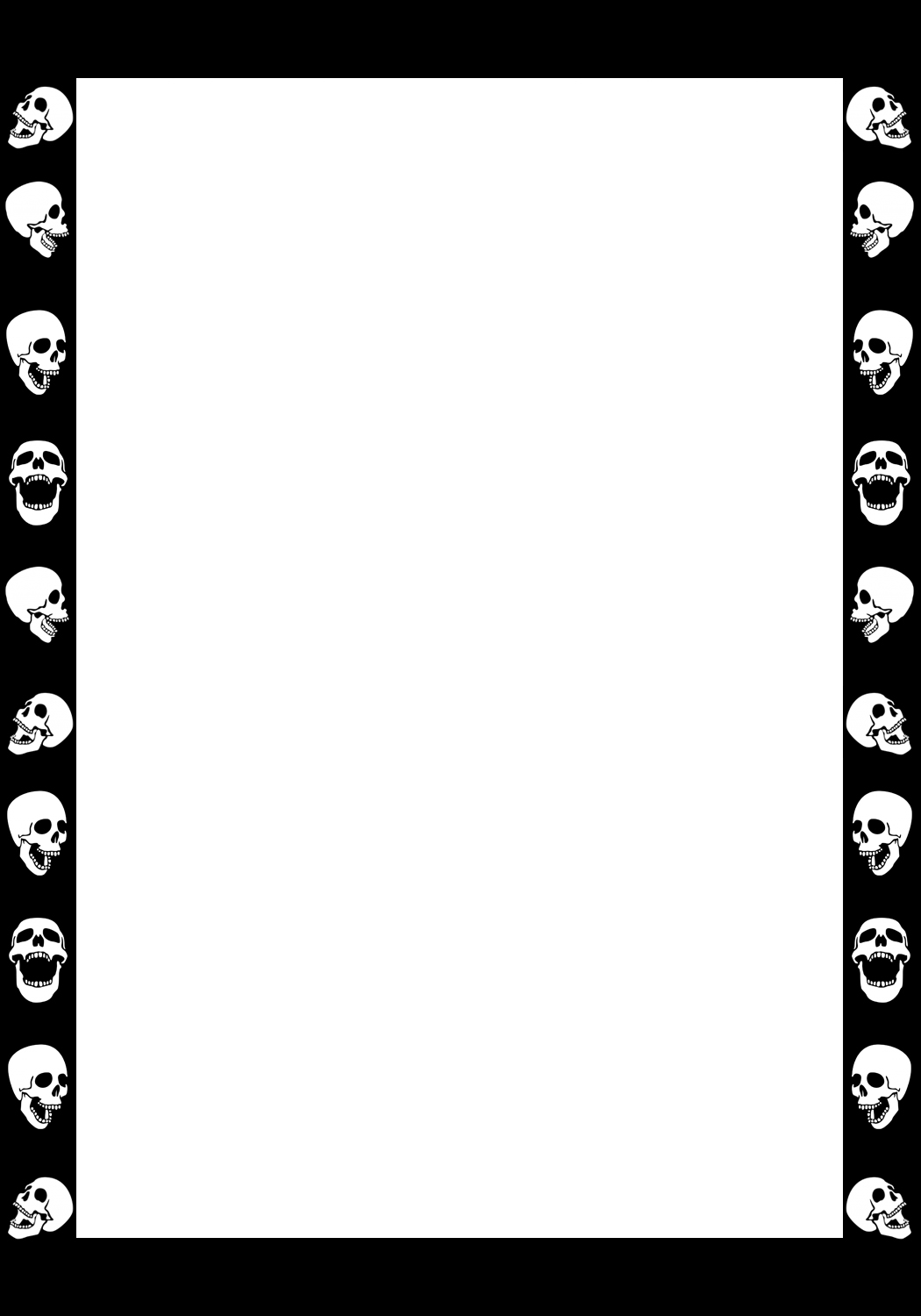 Scary Halloween frame with skulls