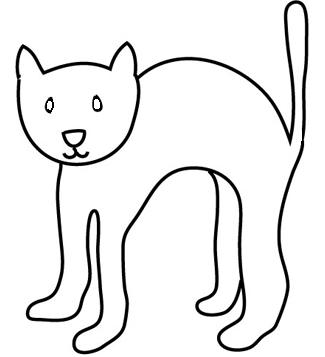 Sketch halloween cat