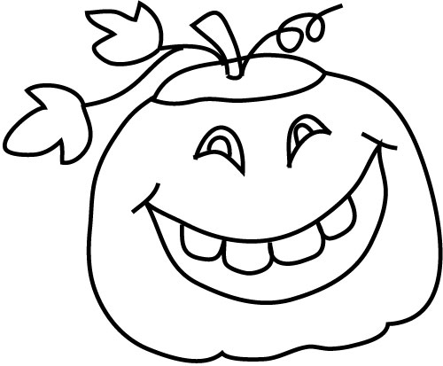 Smiling pumpkin sketch