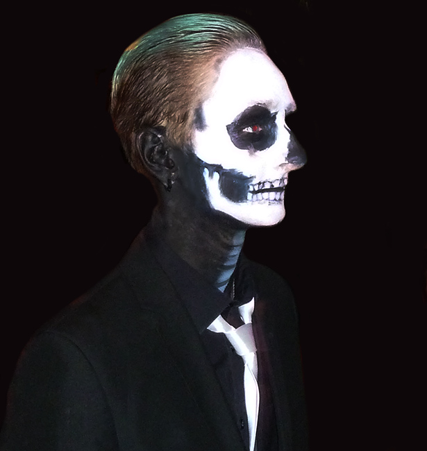 Living skeleton at Halloween