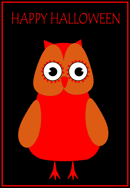 Halloween greeting owl