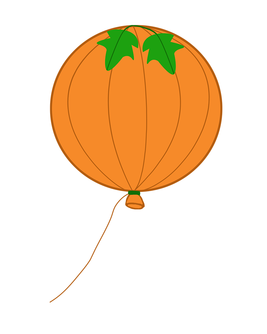 halloween pumpkin balloon