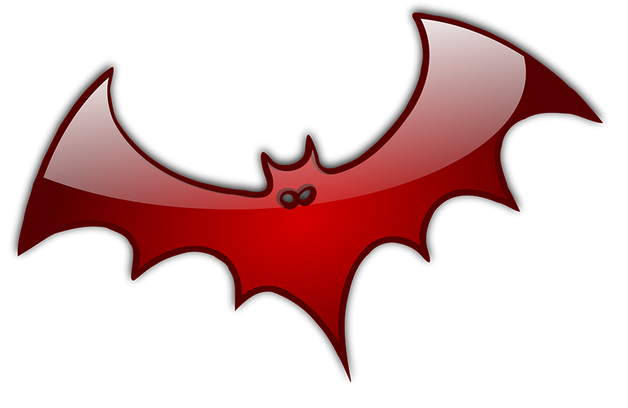 shiny red bat for Halloween