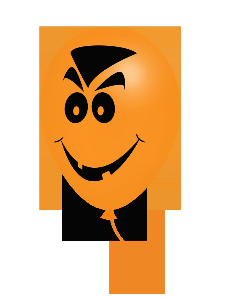 Halloween vampire face balloon