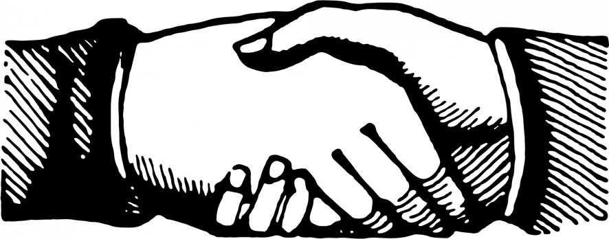 drawing of handshake clipart