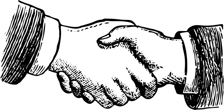 Victorian handshake illustration