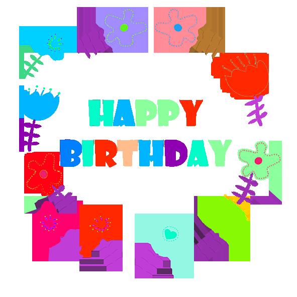Happy Birthday greeting flowers