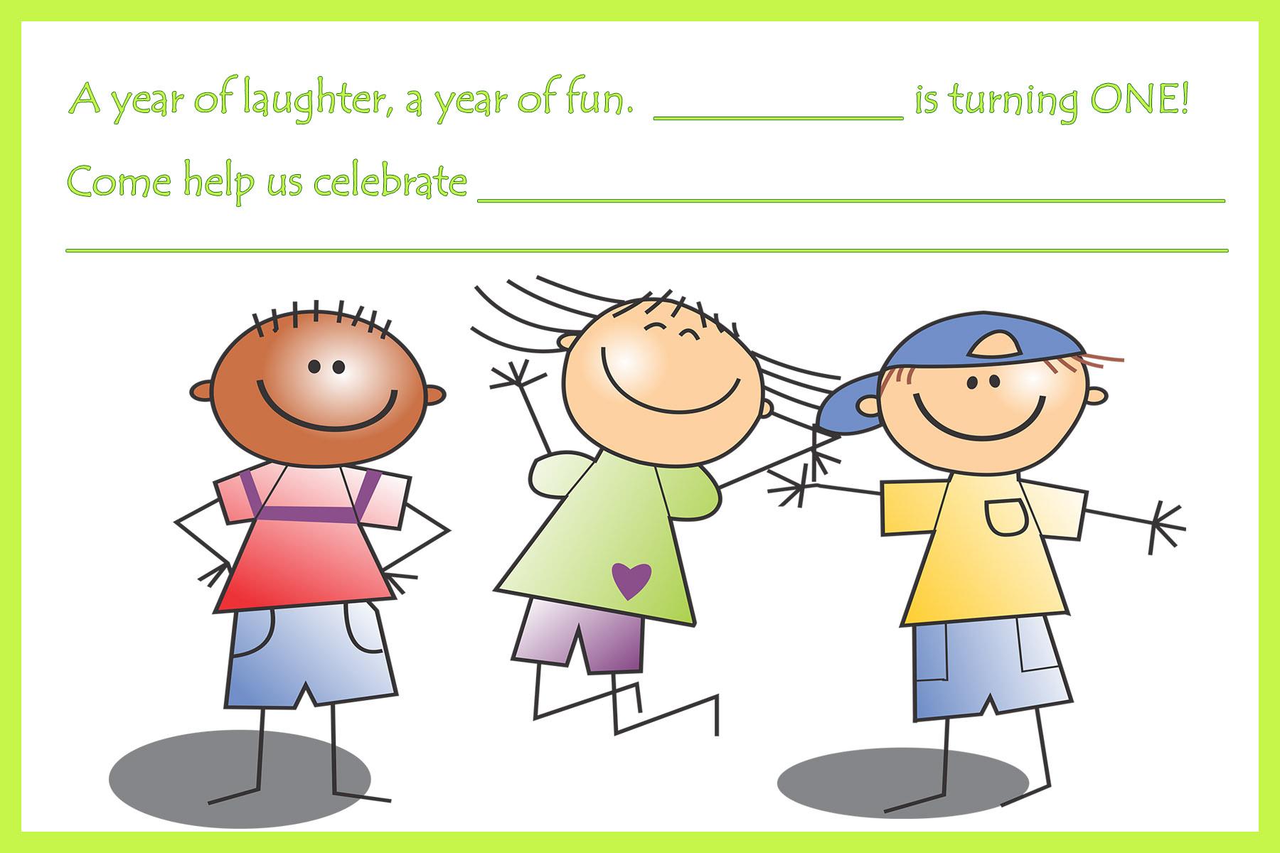 happy children birthday invitation