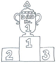 fathers day trophy black white