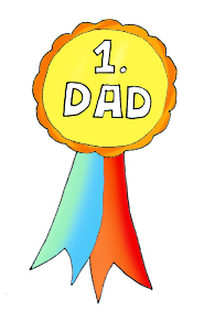fathers clipart medal first price color
