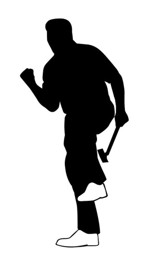 happy golfplayer