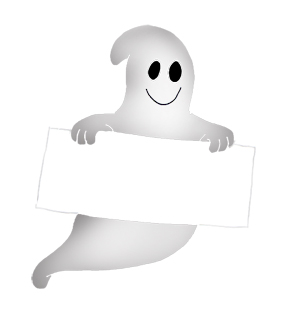 Happy Halloween clip art ghost
