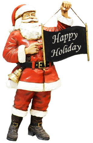 Happy Holiday Santa greeting
